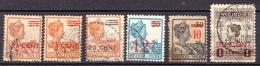 Netherlands Indies 6 Used Overprinted Stamps - Indes Néerlandaises