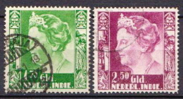Netherlands Indies 2 Used Stamps, High Values - Netherlands Indies