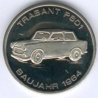 DDR Seltene Medaille Vom Trabant P601 Baujahr 1964 / 1949-1990 (Cu./Ni.) In Kapsel, UNC.- - [ 6] 1949-1990 : RDA - Rép. Démo. Allemande