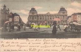 CPA BRUXELLES NELS SERIE 1 No  2 LA GARE DU NORD - Chemins De Fer, Gares