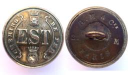 Bouton CHEMIN DE FER EST. III°République, Vers 1900. 21 Mm - Boutons