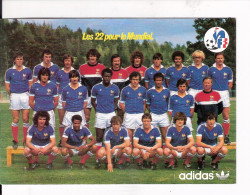 TRES BELLE CARTE POSTALE DE L'EQUIPE  DE FRANCE 1982  ( ADIDAS   ) - Football