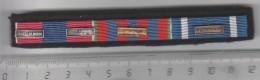 BARRETTE RAPPEL DE DECORATION  Agrafes Troupes De Marine, MAE , Ex Yougoslavie - France