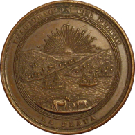 ARGENTINA. MEDALLA DE LA INAUGURACION DEL PUERTO DE LA PLATA. 1.890 - Profesionales / De Sociedad