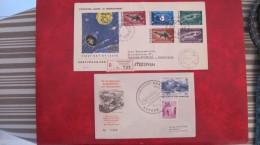 Lot 2 Lettres Anciennes ESPACE 1962 Rocket Mail AUTRICHE & 1964 Du SURINAM, Voir Photo ! - Cartas