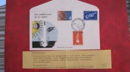 Superbe Lettre Ancienne ESPACE 1965, SIMPOSIO VI FDC 1er Jour ARGENTINE 29.05.1965 - América Del Sur