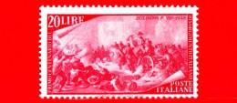 Nuovo - ITALIA - 1948 - Centenario Del Risorgimento - 20 L. • Moti Di Bologna - MNT - 1946-60: Nuevos
