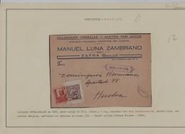 GUERRA CIVIL - BADAJOZ - RECORTADA FRONTAL - 1931-50 Brieven