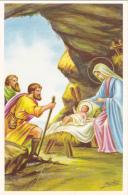 CPSM Nativité Naissance Enfant Jesus Marie Bergers Illustrateur J. VENTURA - Anges