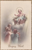 CPSM Nativité Naissance Enfant Jesus Ange Angelot Angel Joyeux Noël Illustrateur - Anges