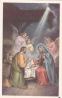 CPSM Nativité Naissance Enfant Jesus Marie Joseph Ange Angelot Joyeux Noël Illustrateur - Anges