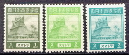 Japan Occupation In Netherlands Indies 3 MNH Stamps - Netherlands Indies