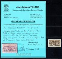 Colis Postaux  Surcharge «FRANCE LIBRE / F.N.F.L.»   Très Rare Signé Ceritifcat  Yv COLIS 5 ** MNH - St.Pierre & Miquelon