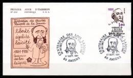 FDC Dept 80 (Somme) Centenaire Des Lois Laïques 1981 AMIENS - FDC