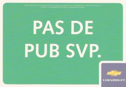 BOOMERANG FREE CARDS  -  CHEVROLET    TACUMA    2X FR/NL - Publicité