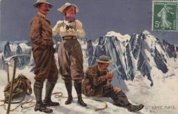 (alpinisme) Ernst PLATZ: Trois Alpinistes Au Sommet - Alpinisme