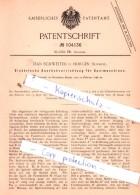 Original Patent  - Jean Schweiter In Horgen , Schweiz , 1898 , Spinnerei !!! - Documents Historiques