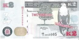 Zambia - Pick 49 - 2 Kwacha 2012 - Unc - Zambie