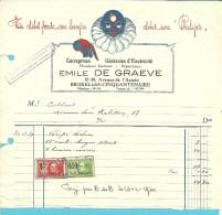 LAMPES PHILIPS / LAMPES  BRUXELLES 1930 / ELECTRICITE DE GRAEVE - Electricity & Gas