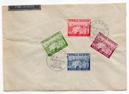 Indonésie--1955--Enveloppe Commémorative-Première élection-29-9-1955-(4 Timbres)-Beaux Cachets  BANDUNG - Indonésie