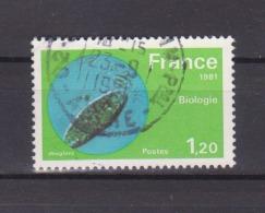 """FRANCE / 1981 / Y&T N° 2127 : """"Grandes Réalisations"""" (Biologie) - Oblitération 1981 09 23. SUPERBE ! - Frankreich"""