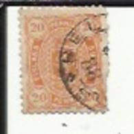 1 Timbre De 20 P  Jaune-Orange No 23 En 1885 - 1856-1917 Administration Russe