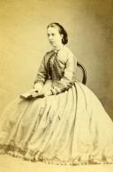 Royaume Uni Hornsey Femme Mode Victorienne Ancienne CDV Photo Williams 1870 - Anciennes (Av. 1900)