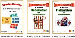RICHTER 2016 DDR Teil 4-6 Katalog 4:Abarten ZD, 5:PF KB, 6:MH3, Neu 60€ Carnet+se-tenant Error Special Catalogue Germany - Phonecards