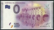 Billet Touristique 0 Euro 2015 :  Le Château De Chenonceau épuisé - Essais Privés / Non-officiels