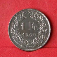 SWITZERLAND 1 FRANC 1969 -    KM# 24a,1 - (Nº14761) - Suisse