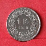 SWITZERLAND 1 FRANC 1989 -    KM# 24a,2 - (Nº14762) - Suisse