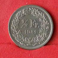 SWITZERLAND 1/2 FRANC 1981 -    KM# 23a,1 - (Nº14763) - Suiza