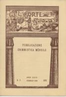 """05260  """"LA CORTE DI SALOMONE - PUBBLICAZIONE ENIMMISTICA MENSILE -  ANNO XXXIX - N. 2 - FEBBRAIO 1939 - XVII"""" ORIGINALE - Giochi"""