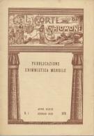 """05261 """"LA CORTE DI SALOMONE - PUBBLICAZIONE ENIMMISTICA MENSILE -  ANNO XXXIX - N. 1 - GENNAIO 1939 - XVII"""" ORIGINALE - Giochi"""