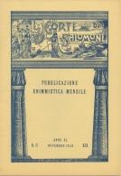 """05263 """"LA CORTE DI SALOMONE - PUBBLICAZIONE ENIMMISTICA MENSILE -  ANNO XL - N. 11 - NOVEMBRE 1940 - XIX"""" ORIGINALE - Giochi"""