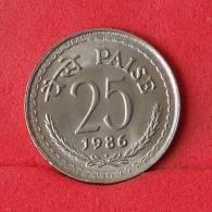 INDIA 25 PAISE 1986 -    KM# 49,1 - (Nº14783) - India