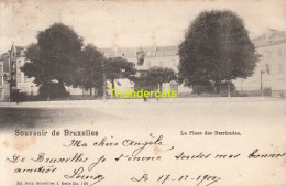 CPA BRUXELLES NELS SERIE 1 No 120 LA PLACE DES BARRICADES - Places, Squares