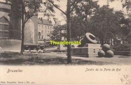 CPA BRUXELLES NELS SERIE 1 No 325 JARDIN DE LA PORTE DE HAL - Forêts, Parcs, Jardins