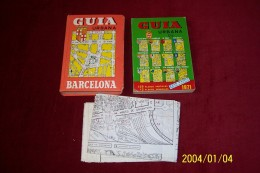 PLAN DE BARCELONE   °° GUIA UEBANA BARCELONA  1971 - Livres, BD, Revues