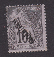 Reunion, Scott #21, Mint Hinged, Commerce Overprinted, Issued 1891 - Reunion Island (1852-1975)