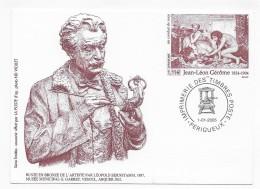 2005 - JEAN LEON GEROME - BUSTE EN BRONZE - VESOUL - Documents Of Postal Services