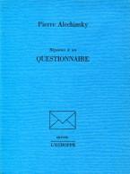 Alechinsky Reponses A Un Questionnaire Ed L'echoppe Tbe - Livres, BD, Revues