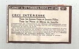 Carnet De 20 Timbres , Reste 3 , De 0.50F , Dragées MARTIAL , Galeries BARBES , Défauts , 3 Scans - Other