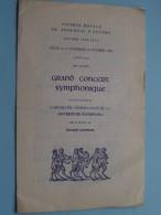 Groot SYMFONISCH CONCERT Koninklijke Maatschappij Voor DIERKUNDE Van ANTWERPEN Seizoen 1954-1955 !! - Programme