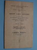 Groot GALA CONCERT Koninklijke Maatschappij Voor DIERKUNDE Van ANTWERPEN Seizoen 1957-1958 !! - Programmes
