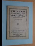 CHICAGO SYMPHONY ORCHESTRA Eight Program Nov 30 & Dec 1 ( Thirty-Third Season ) 1923-1924 !! - Programmes