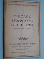 CHICAGO SYMPHONY ORCHESTRA Twenty-Second Program March 14 & 15 ( Fifty-Fifth Season ) 1946 !! - Programma's