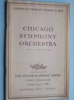 CHICAGO SYMPHONY ORCHESTRA First Program Oct 6 & 7 ( Fifty-Ninth Season ) 1949 !! - Programma's