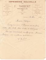 1938 IMPRIMERIE NOUVELLE F. THIBERT HAUTEVILLE AIN - France