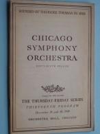 CHICAGO SYMPHONY ORCHESTRA Thirteenth Program Dec 29 & 30 ( Fifty-Ninth Season ) 1949 !! - Programma's